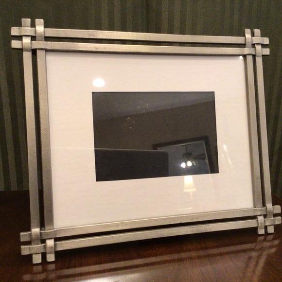 HEAVY Silver Frame w/ Black Velvet Backing